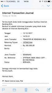 Bukti Transaksi Sewa Villa Di Puncak Dari Kotabunga.web.id Grup