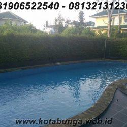 Sewa villa puncak murah ada kolam renang, 5 kamar villa a'ang